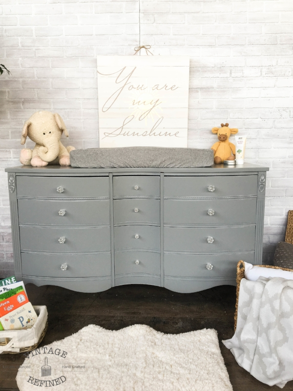 Vintage Refined Grey Changing Table