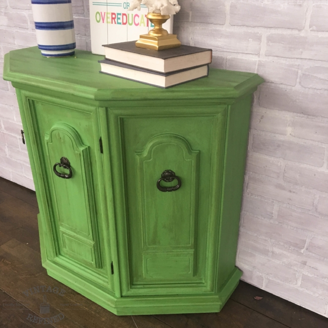Entryway table painted in Annie Sloan Chalk Paint Antibes currently available in my Etsy shop