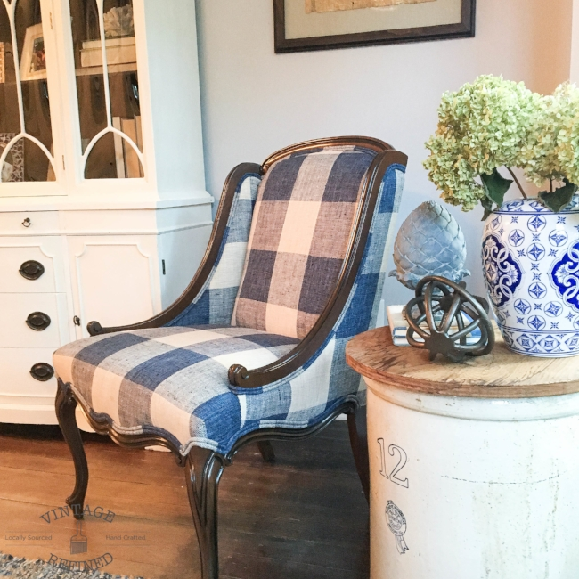 My $10 Craigslist chair I reupholstered