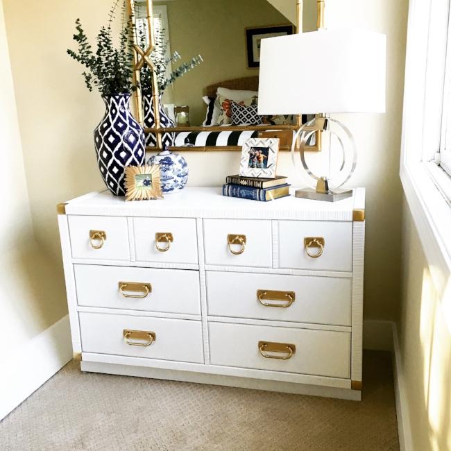 white lacquer dresser