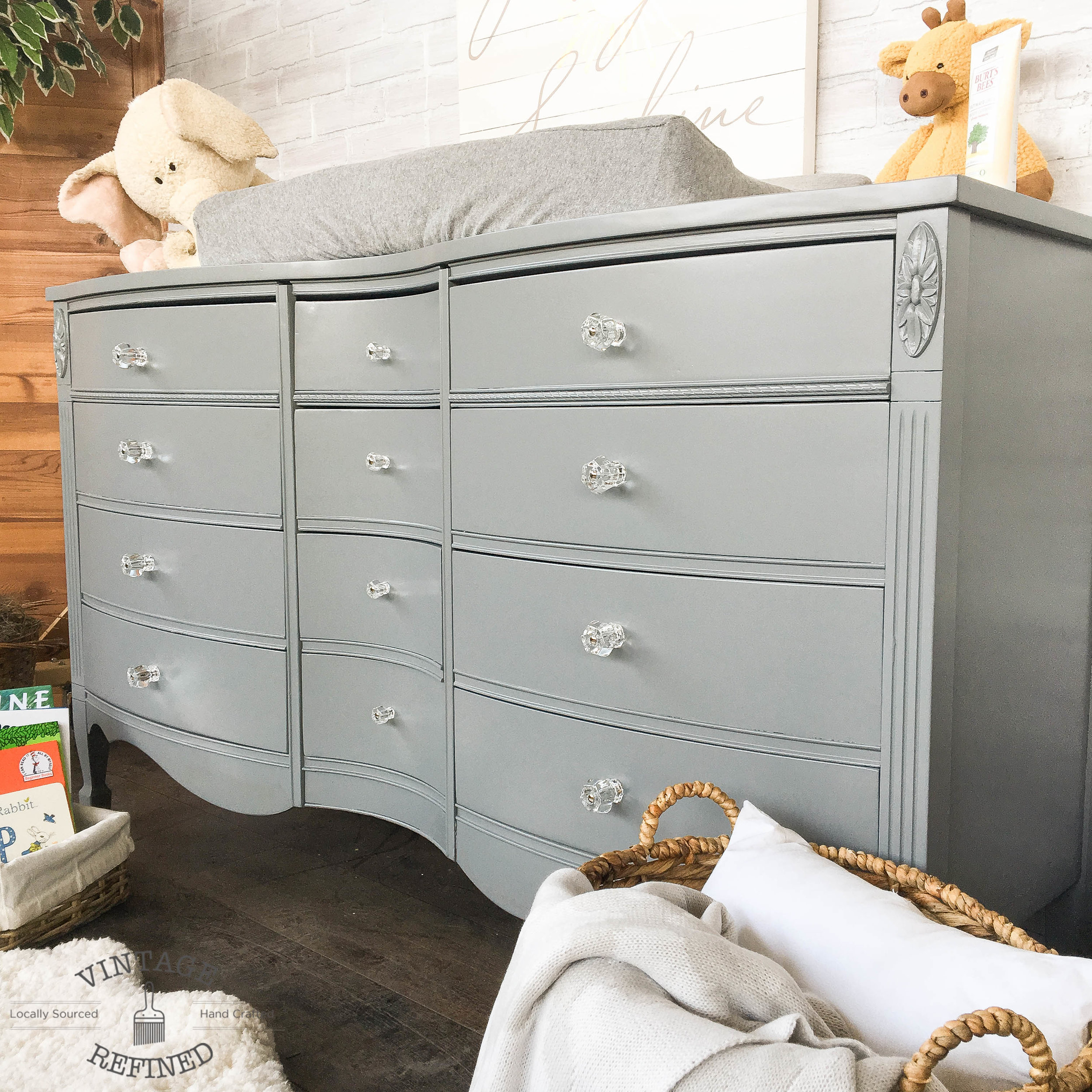 grey painted dresser