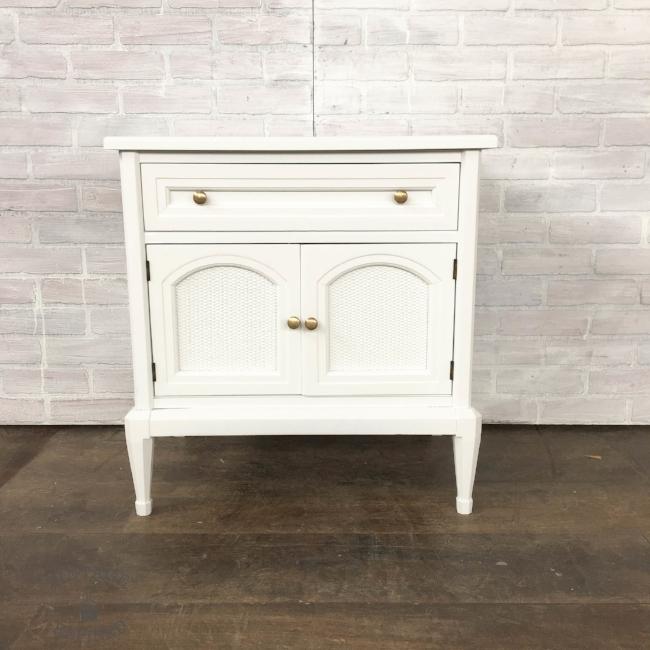 White MCM nightstand