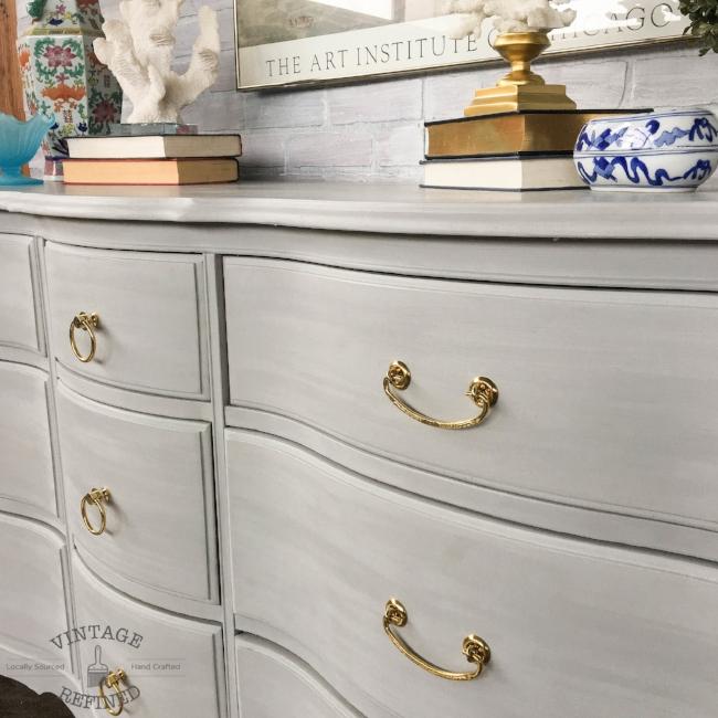 grey painted dresser