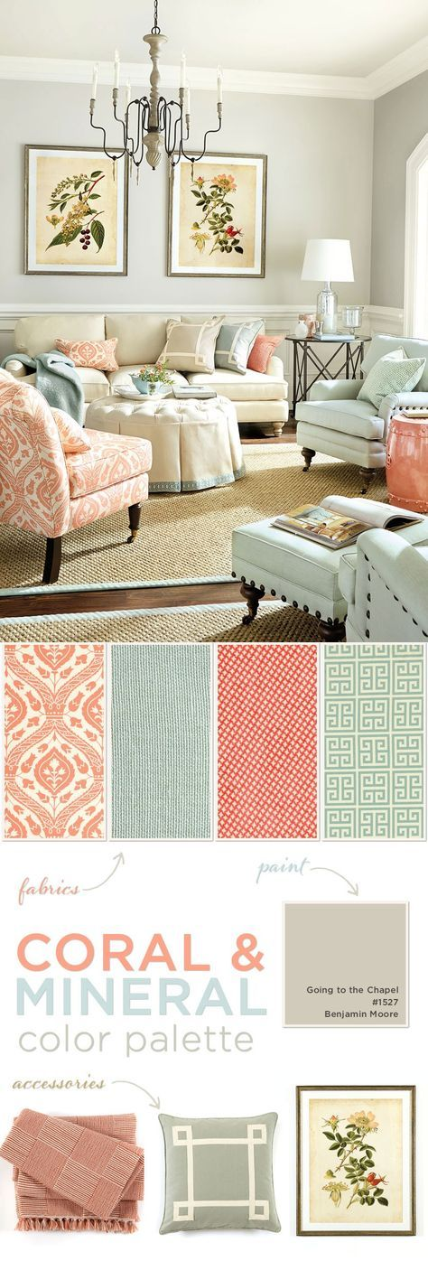 Coral Living Room Decor