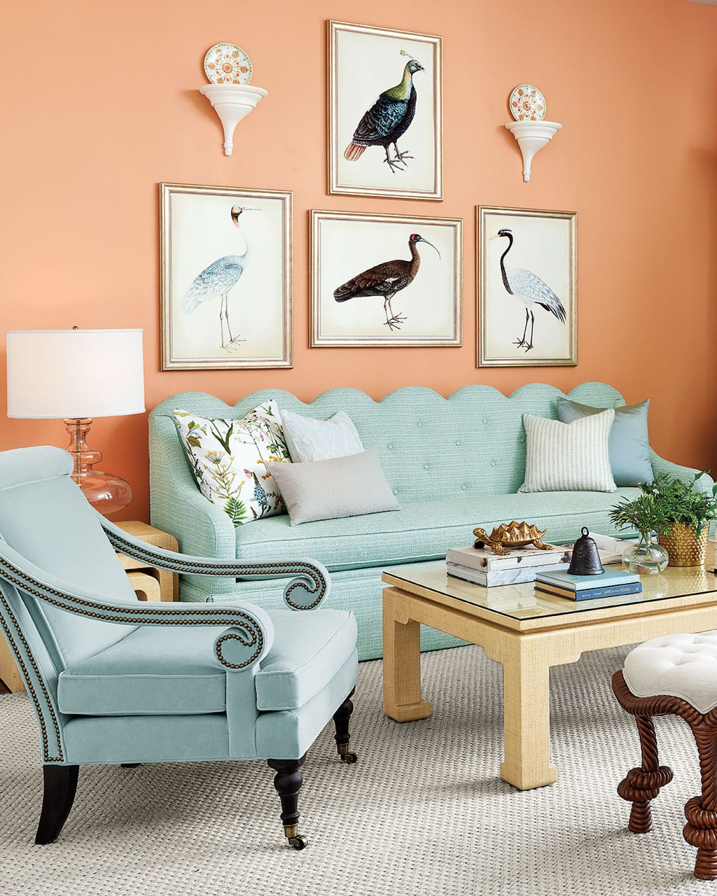 Bunny Williams Coral Living Room