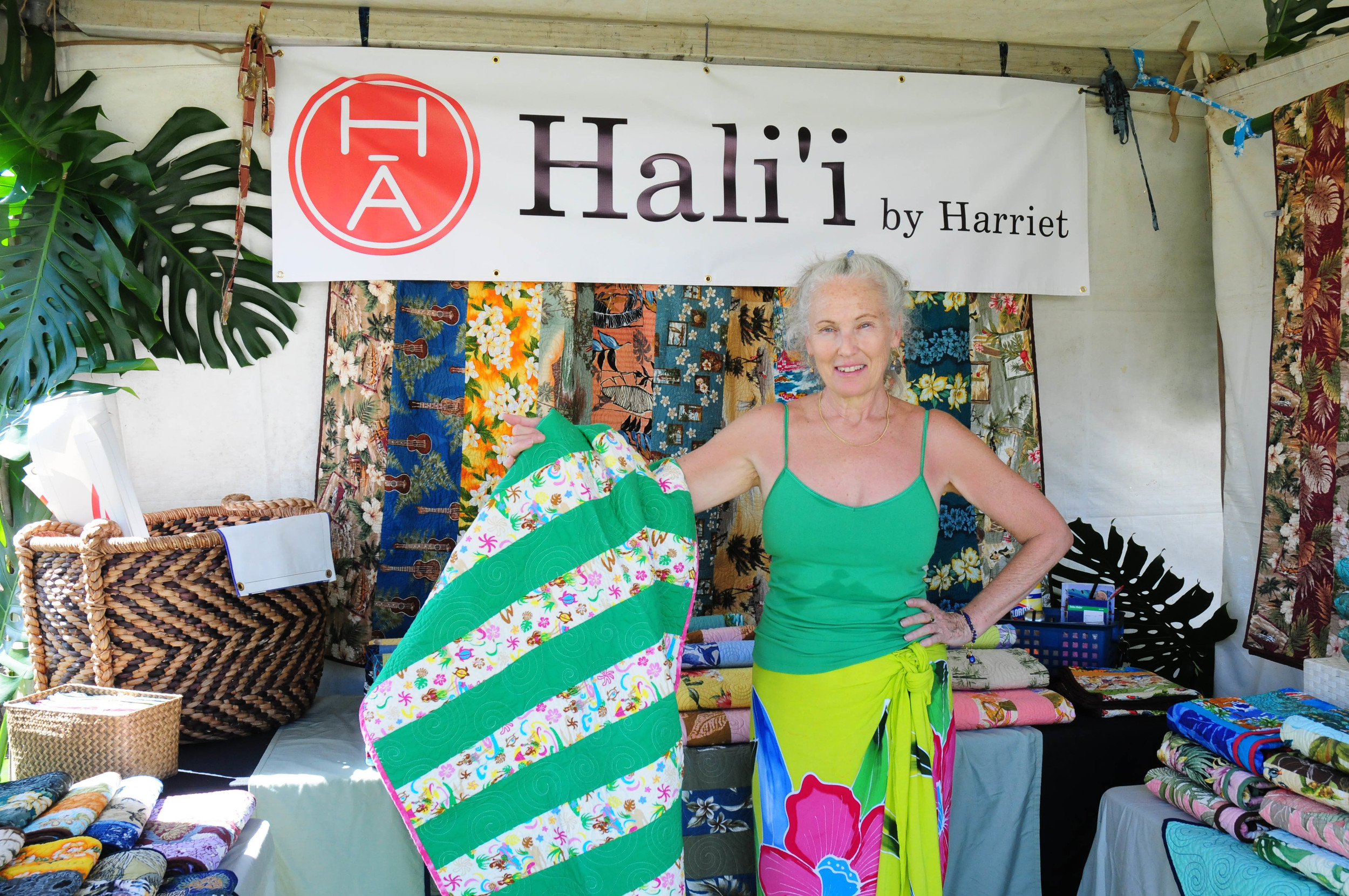 """The Made in Maui County Festival provided me with an opportunity to participate in a first-class show and marketing event that is not available on this scale for a small business.""     - Harriet Alms, Hali`i by Harriet"