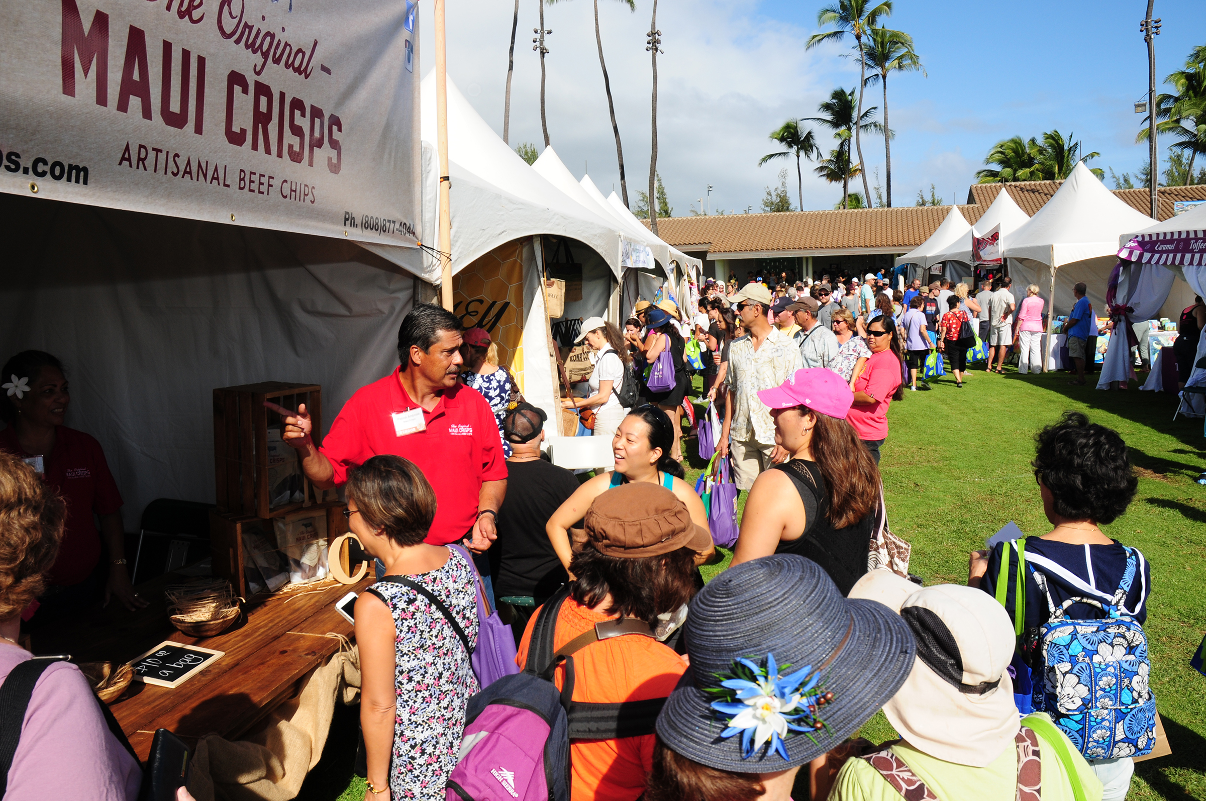 It was a big shopping day for local businesses during the Made in Maui County Festival held this weekend.