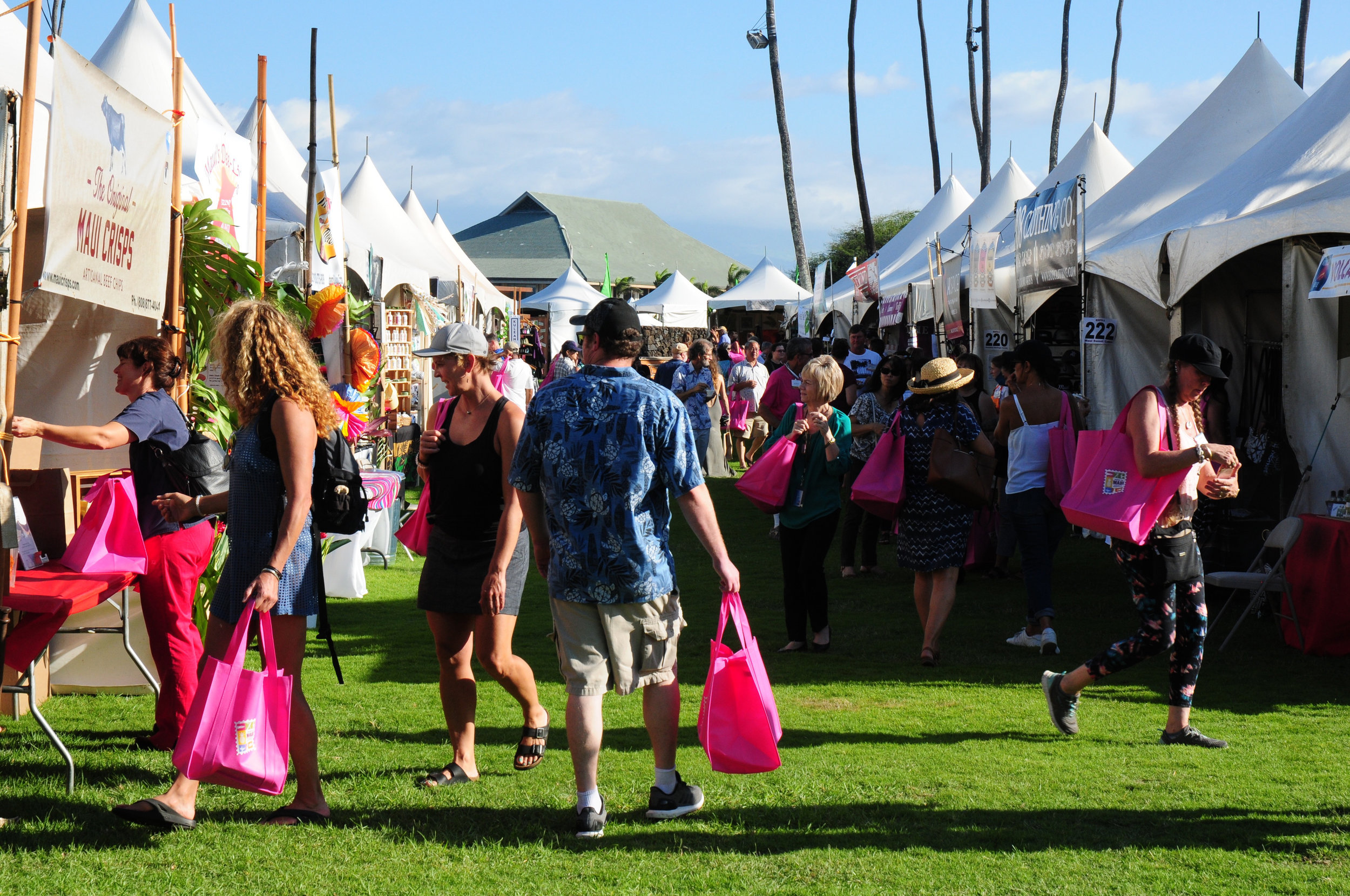 In 2017, the Made in Maui County Festival drew more than 10,000 residents and visitors for two days of shopping at the Maui Arts & Cultural Center.