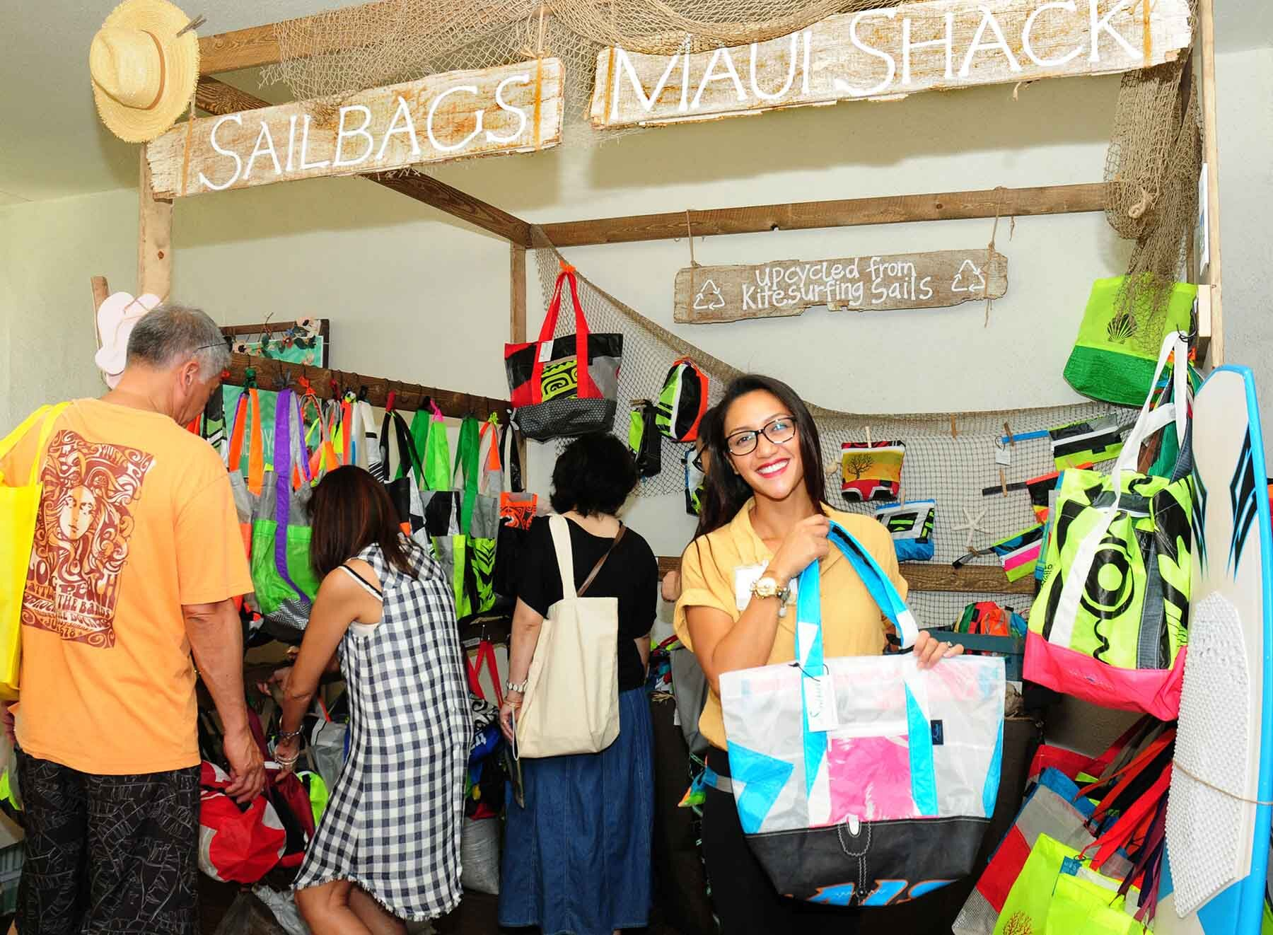 Sailbags Maui will feature their eco-savvy tote bags and accessories.