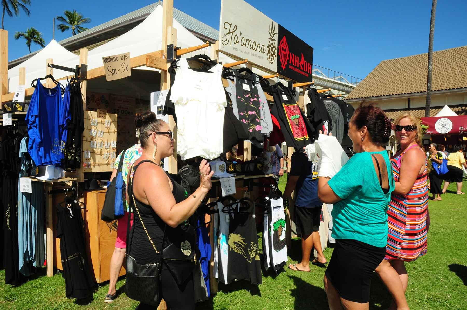 Festival sponsor-vendor Na Koa Brand will offer their popular Polynesian-inspired designs for men's, women's, children and infants' apparel and accessories.