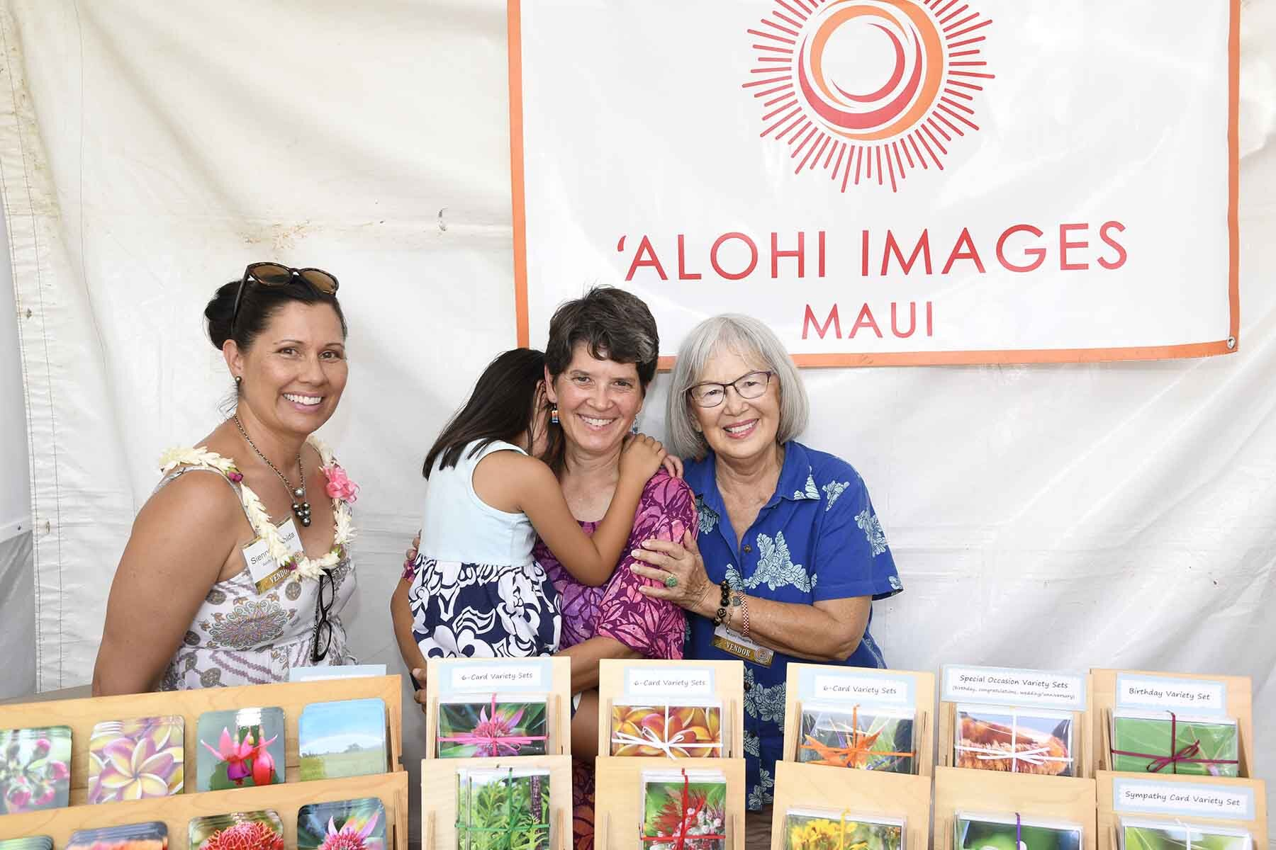Returning festival vendor, Shelley Pellegrino of `Alohi Images Maui, will offer her popular island-inspired photo cards, coasters and gifts for every occasion.