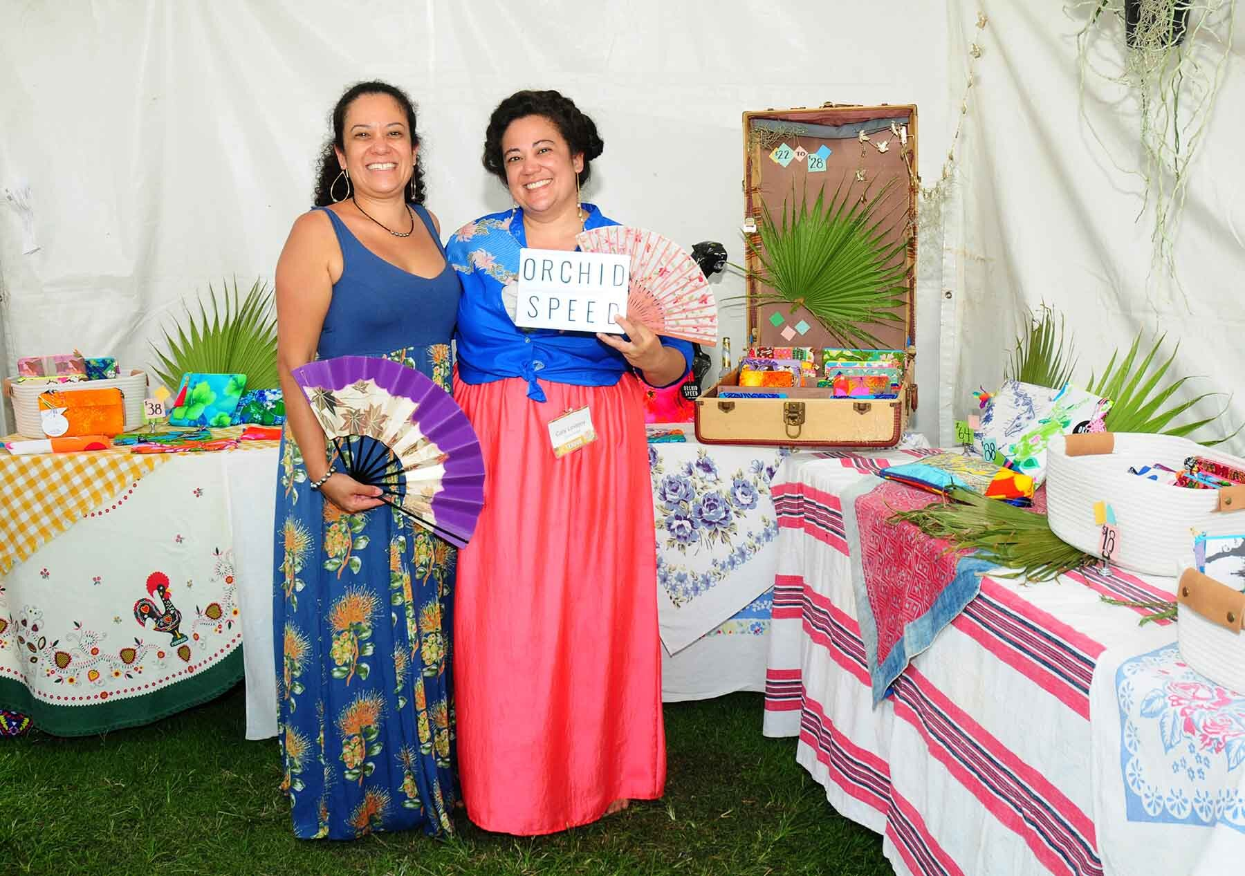 Cory Lovejoy, owner of Orchid Speed from Lanai, will offer her zipper bags, metal frame clutches and totes made from vintage Hawaii and found fabrics.