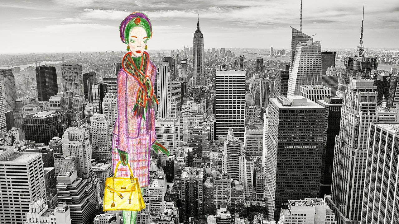 Lady Tartan in New York city