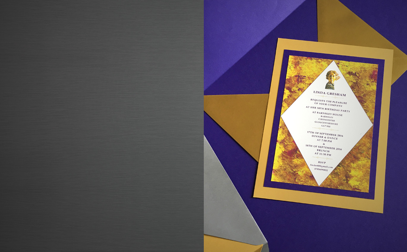 INVITATIONS - in original designs, vibrant colours and fabulous prints, personalised with your requirements