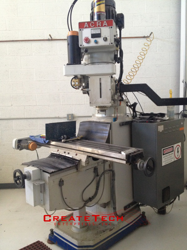 Acra AM-3VAC Knee Mill