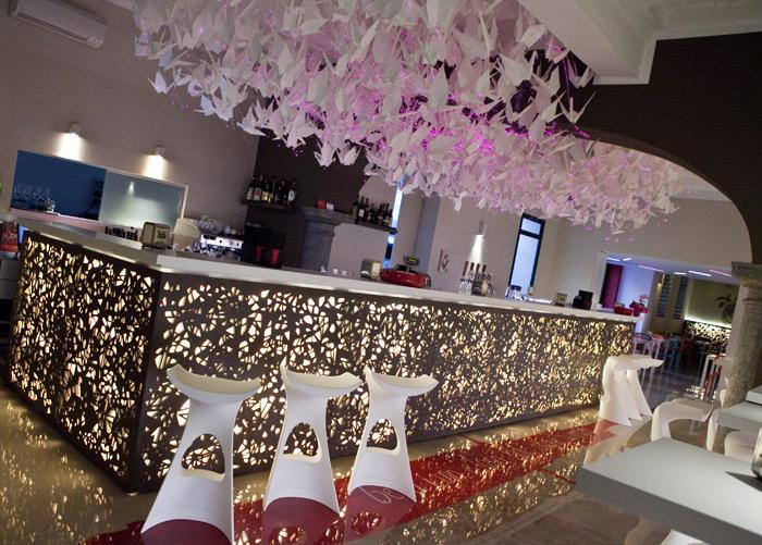 Due Colonne _ Flamingo chandelier Origami _ francesca signori