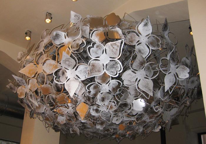 Club Don - bespoke chandelier - design francesca signori