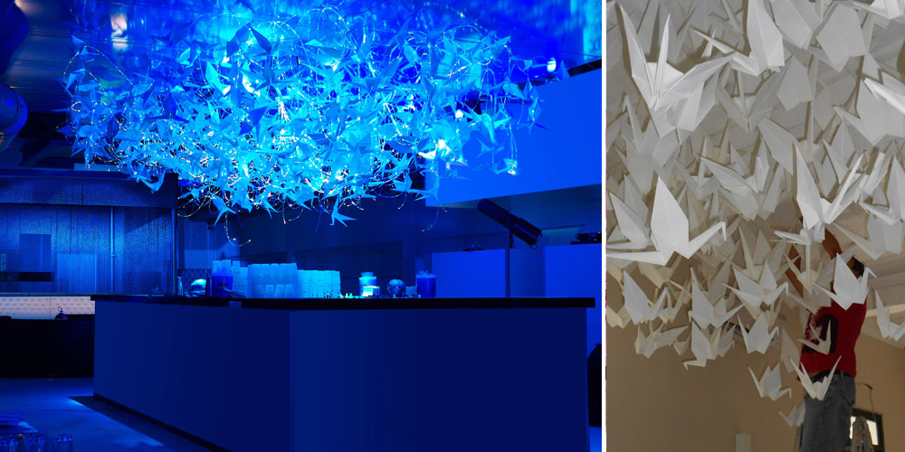 Capogiro, bespoke chandelier, origami, design francesca signori