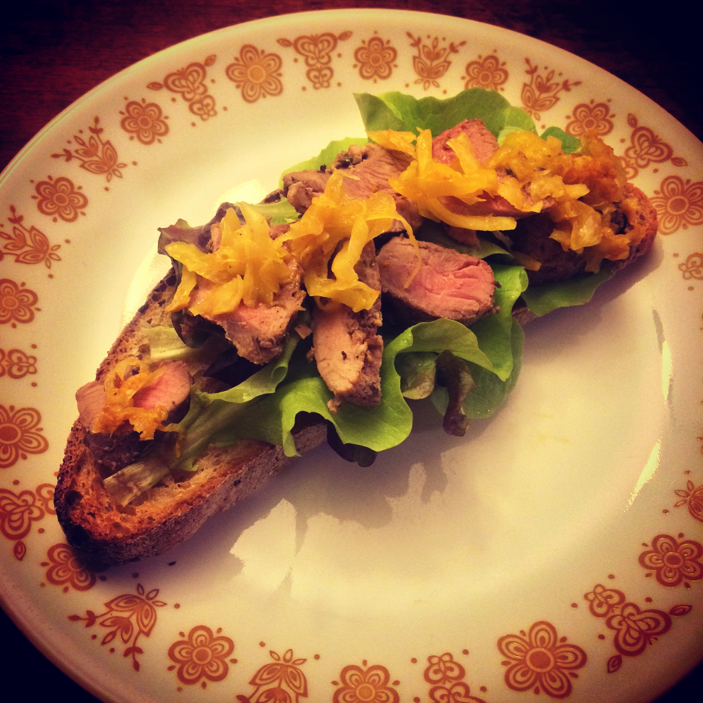 Curry Turmeric Kraut on a Wild Rhythms Farm Lamb sandwich      Photo Credit Caitlin Elberson