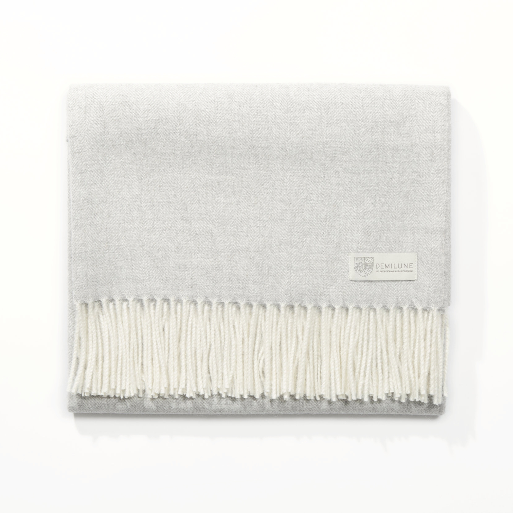 Grey -size: 51 in x 71 in (with fringes)