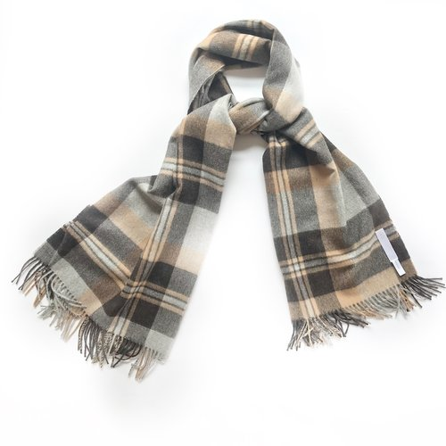 BOYFRIEND WRAP - This oversize scarf or travel wrap is ultimately the coziest scarf for this winter! Available in four plaids; 86 by 32 inches.