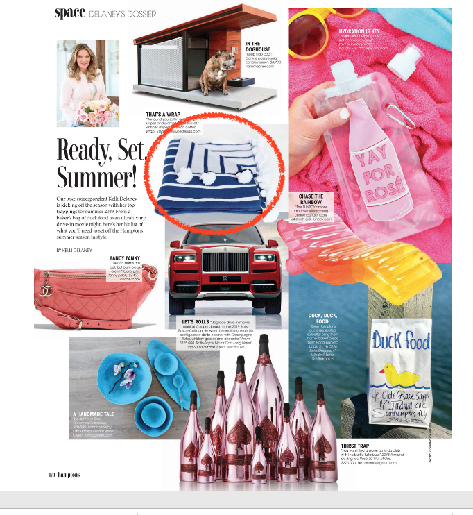 That's a Wrap! Antibes Wrap (Pima Collection) - MODERN LUXURY - The Hamptons, May 2019