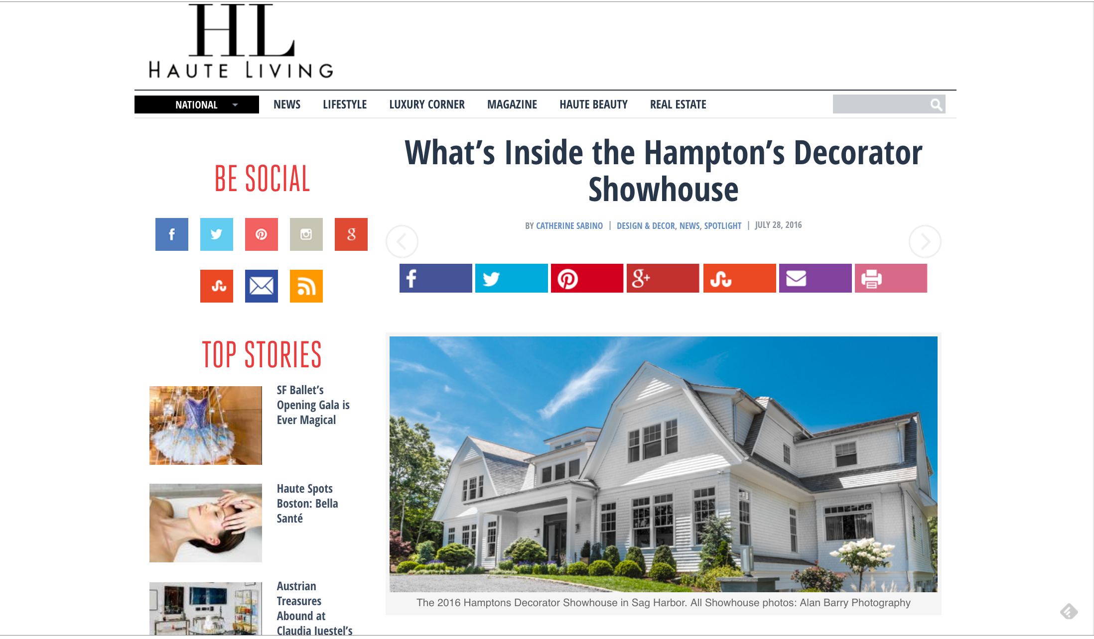 Haute Living Hampton's Decorator Showhouse