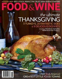 Food & Wine, November 2012