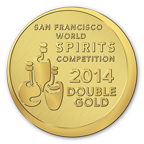San Francisco World Spirits Competition—DOUBLE Gold, 2014