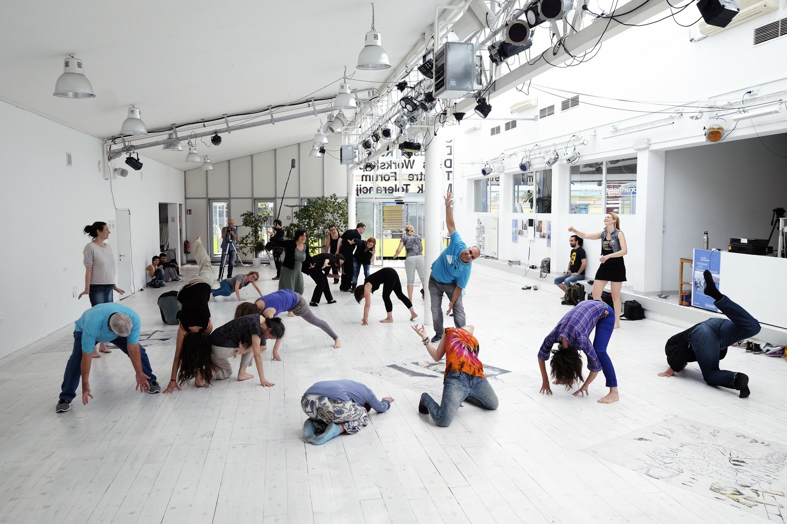 Workshop at Brunnenpassage in Vienna, Austria