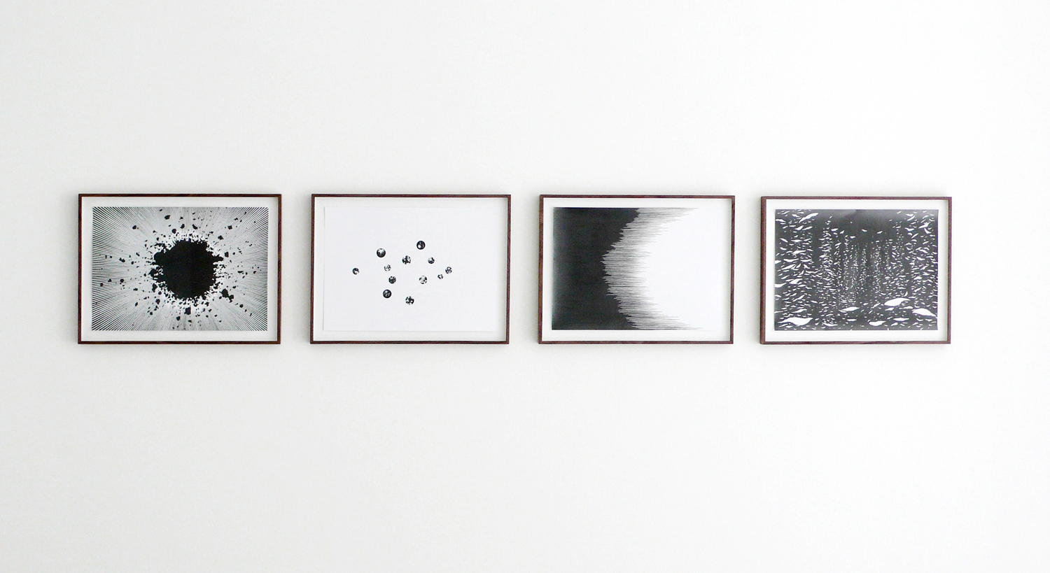Visions, 2008, pencil on paper, each 29,7 x 42cm
