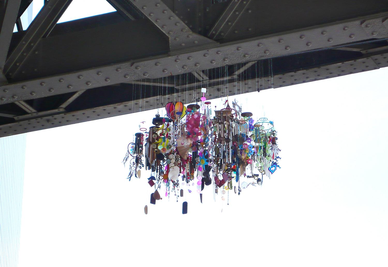 Mojo , 2012, diameter ca 150cm Installation at  Art and the City , Josefstrasse/Viadukt, Zürich
