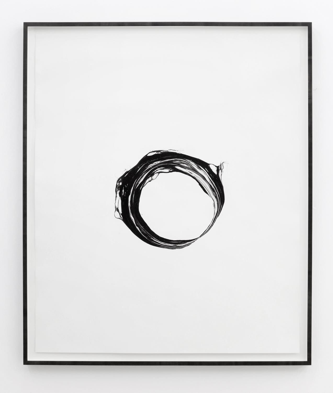 Corona V , 2012, ink on paper, 151 x 125,5cm