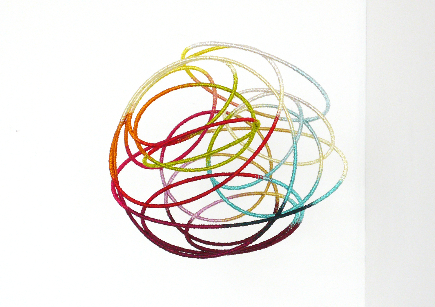 Gust , 2012, metal, wire, diameter 30cm