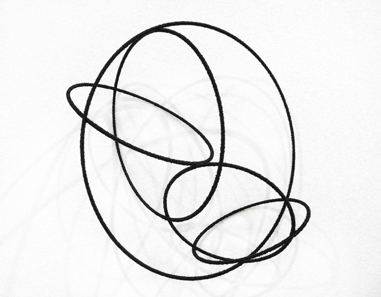 Island lV , 2012, metal, wire, diameter ca 30cm