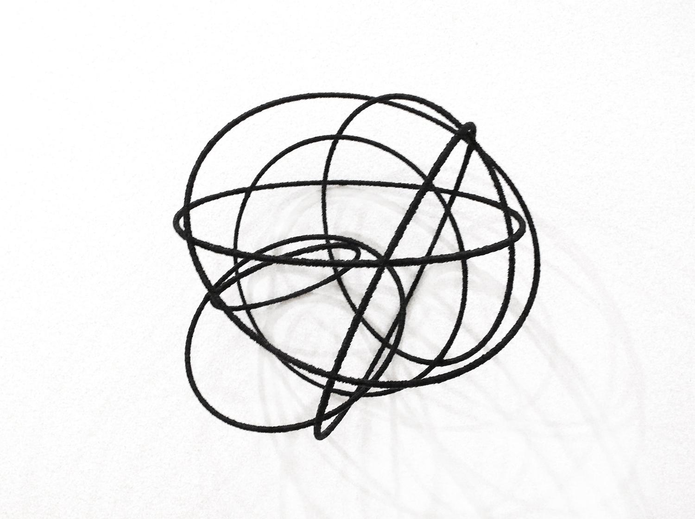 Island Vl , 2012, metal, wire, diameter ca 30cm
