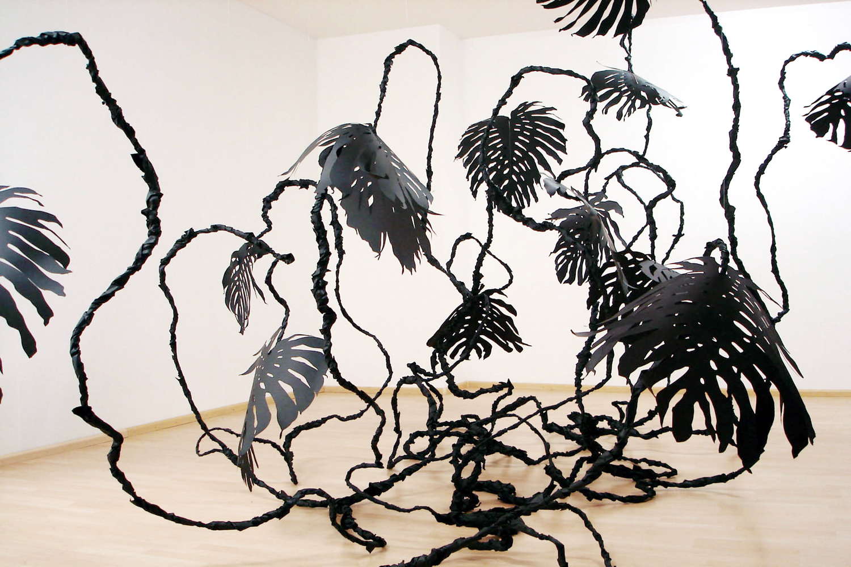Monstera , 2006 metal, paper, glue, nylon at  shades , Galerie Friedrich, Basel