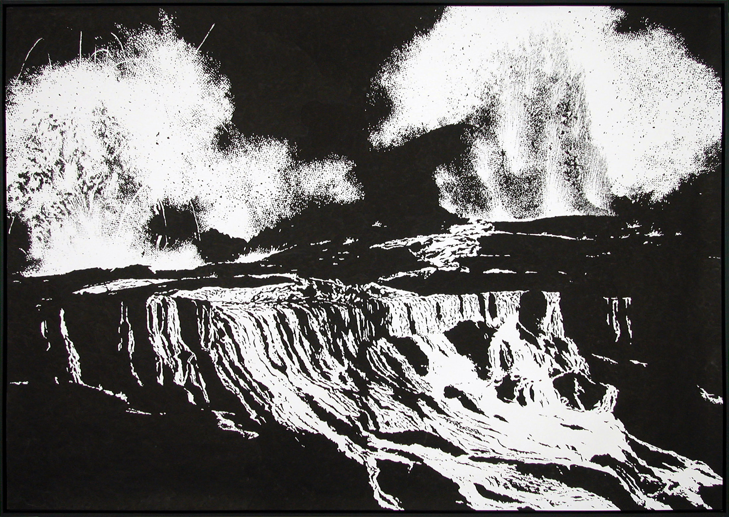 ground l,  2004, ink on paper, 196 x 276cm