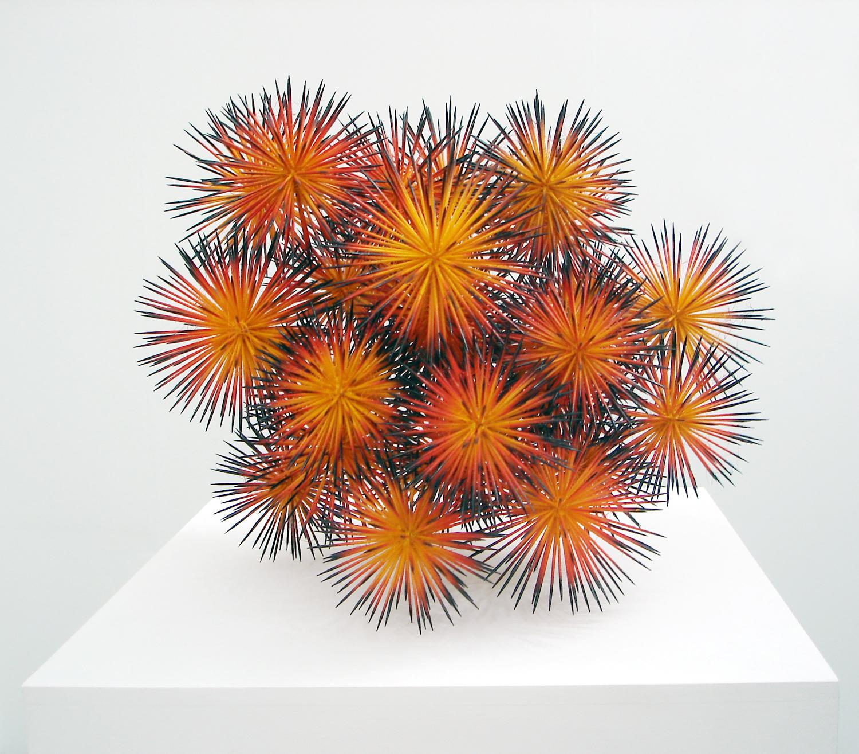 stars, 2006, wood, hot glue, spray paint, diameter 50cm