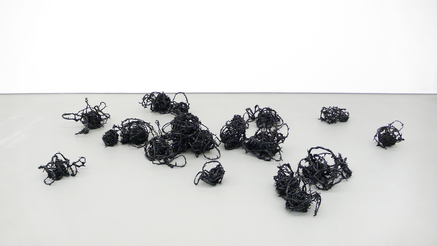 from the corner of your eye  , 2008, plastic, wire, tape ,  dimensions variable   stray currents, 2011, Towner, Eastbourne