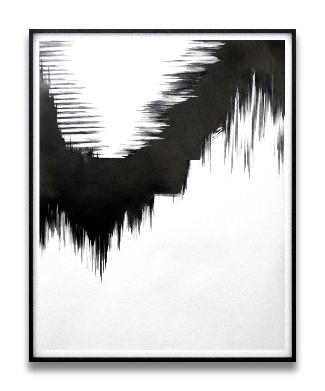 draft V   , 2010, pencil on paper, 140 x 110cm   squall line, Les Modules, Palais de Tokyo, Paris