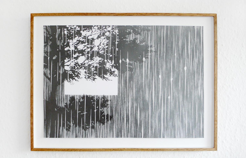 vision/ atarax , 2008, pencil on paper, 29,7 x 42cm  Sonntag by Adrian Schiesser und April Gretler, Berlin