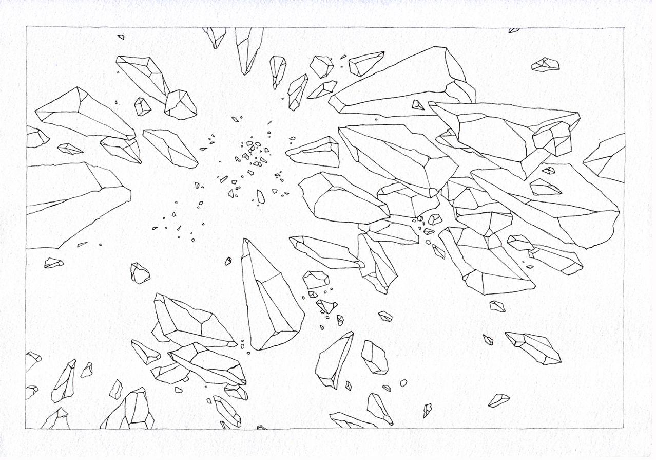 Zacken, 2007, watercolor on paper, 21 x 29cm