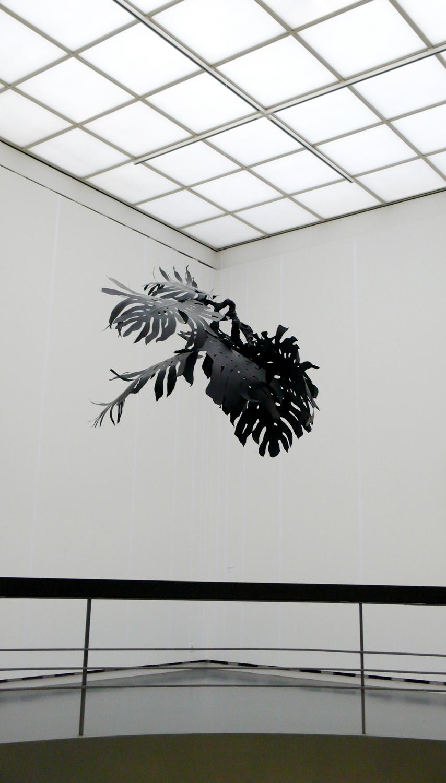 Monstera , 2011 metal, paper, glue, nylon Installation at  Voici un dessin suisse, 1990-2010 , Kunsthaus Aarau