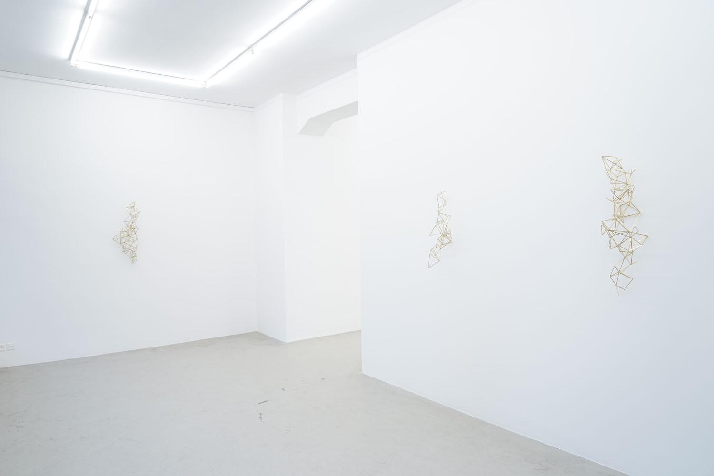 Spell/ Dero, Spell/ Abgal, Spell/ Hariti,  2014, brass, wire  Shapes, Traps and Spells, Lullin + Ferrari, Zürich