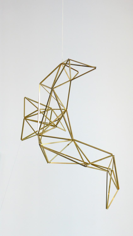Spell/ aleya , 2014, brass, wire