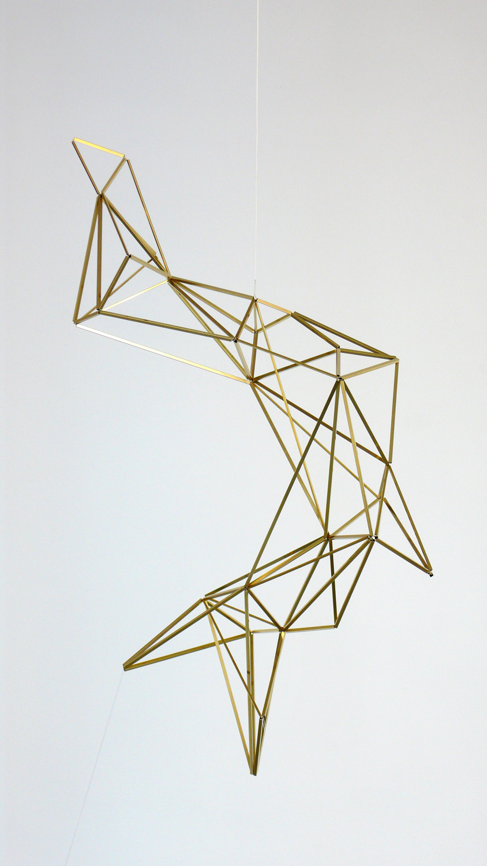 Spell/ kymo , 2014, brass, wire