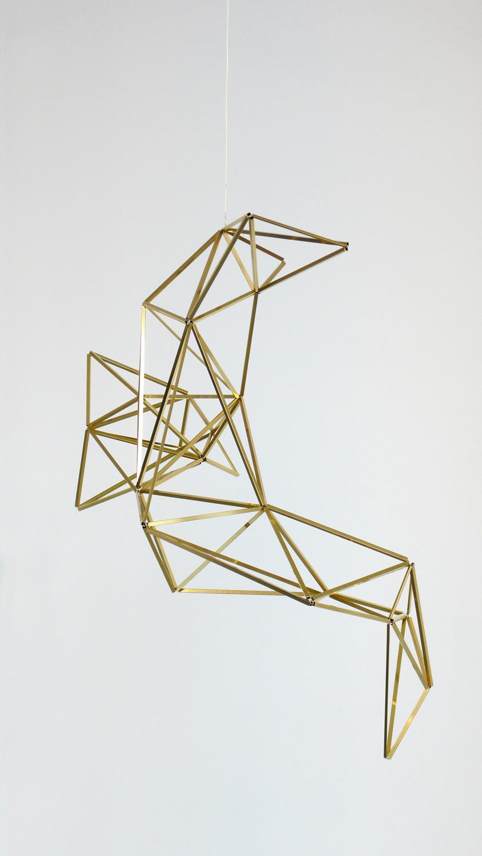 spell/ aleya, 2014, brass, wire