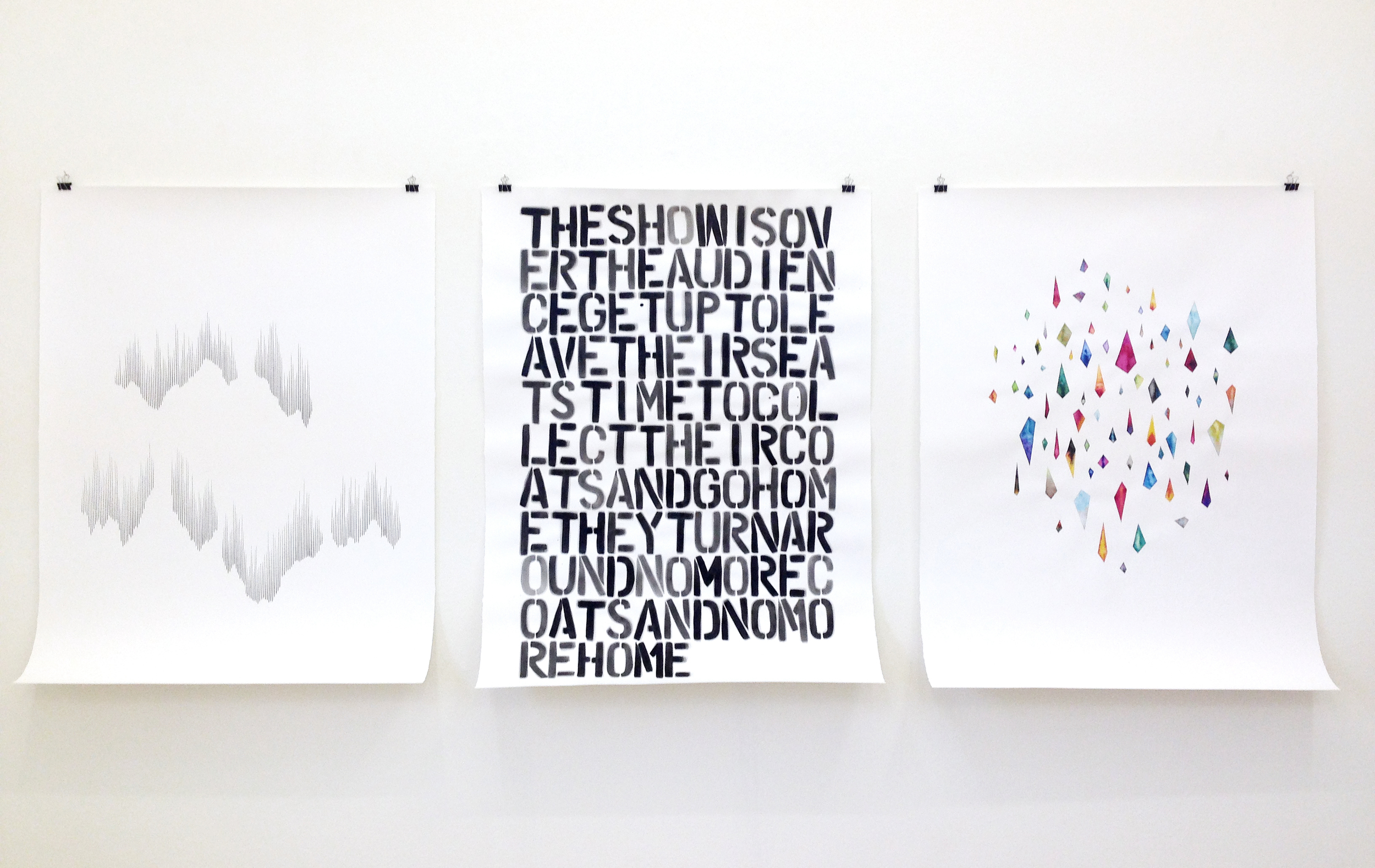 Vision Cloud/ shift, the show, wishes , 2015, pencil, ink on paper, each 132 x 101cm