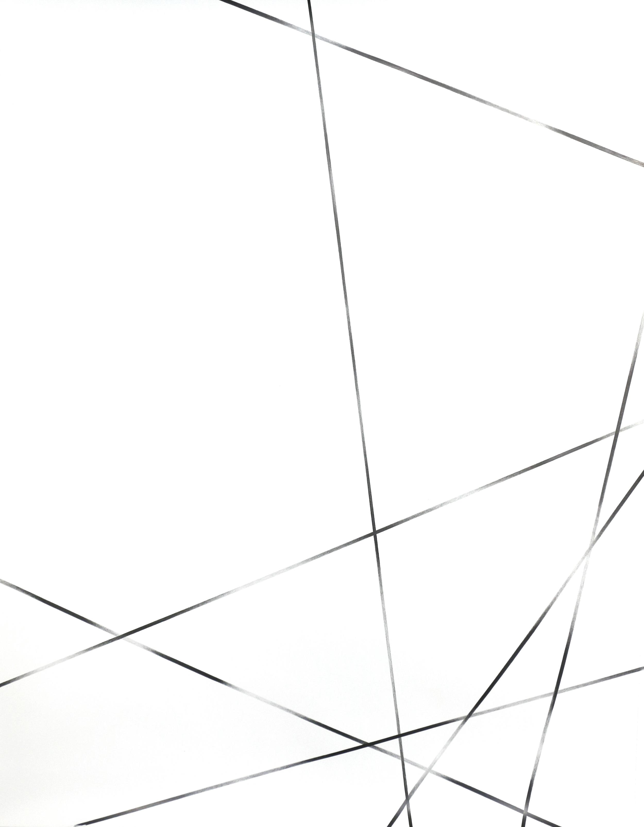 Vision Cloud/ threads , 2015, pencil on paper, 132 x 101cm
